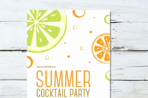Cocktail Party Invitation Template Best Of Summer Cocktail Invitation Invitation Templates On