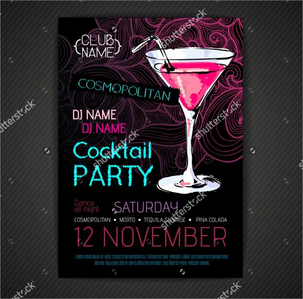 Cocktail Party Invitation Template Elegant 46 Printable Party Invitation Templates Psd Ai