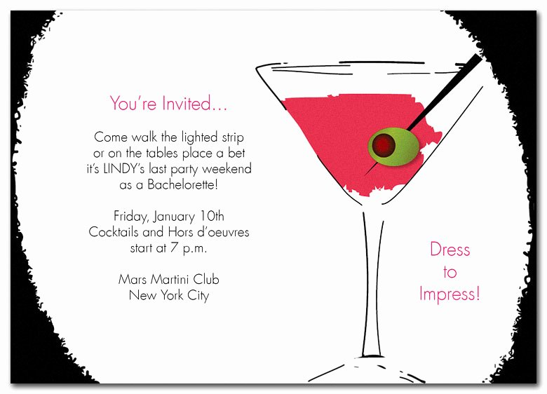 Cocktail Party Invitation Template Inspirational 25th Birthday Invitation Wording