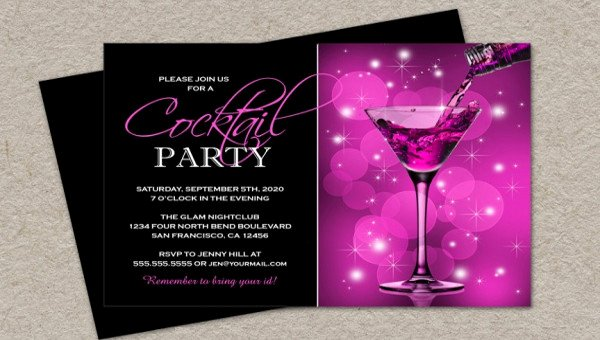 Cocktail Party Invitation Template Lovely 21 Cocktail Party Invitations Psd Vector Eps Jpg