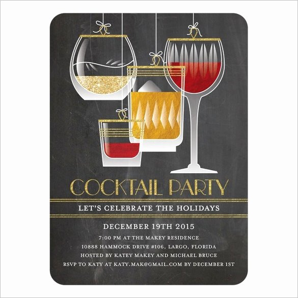 Cocktail Party Invitation Template Lovely 21 Stunning Cocktail Party Invitation Templates & Designs