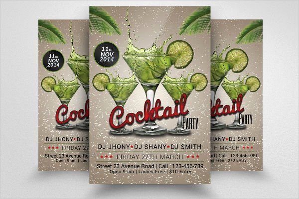 Cocktail Party Invitation Template Lovely 46 Printable Party Invitation Templates Psd Ai