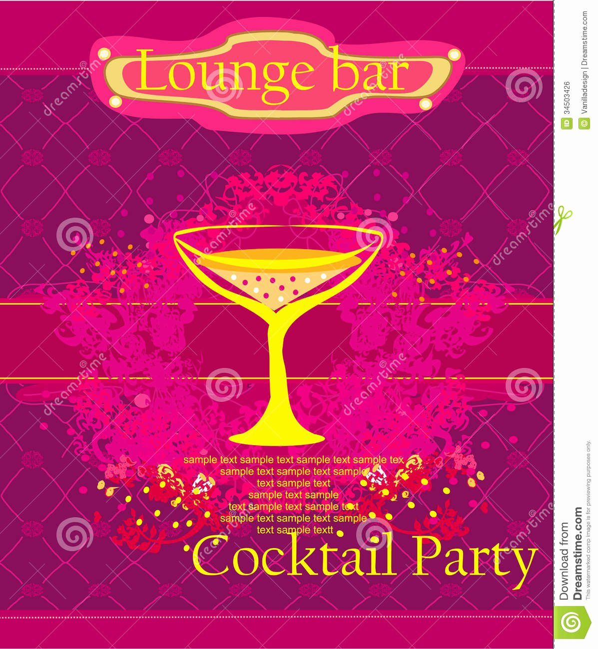 Cocktail Party Invitation Template New Cocktail Party Invitation Card Royalty Free Stock Image