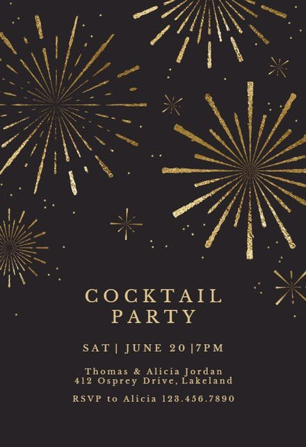 Cocktail Party Invitation Template New Cocktail Party Invitation Templates Free