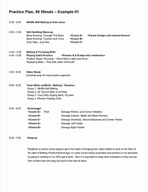 College Baseball Practice Plan Template Fresh Pin by James Christy On softball Training