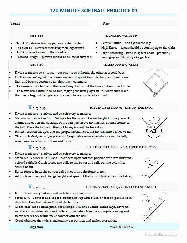 College Baseball Practice Plan Template Luxury 23 Best softball Clip Art Images On Pinterest