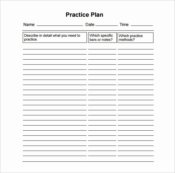 College Baseball Practice Plan Template Luxury 30 Of College Football Practice Plan Template
