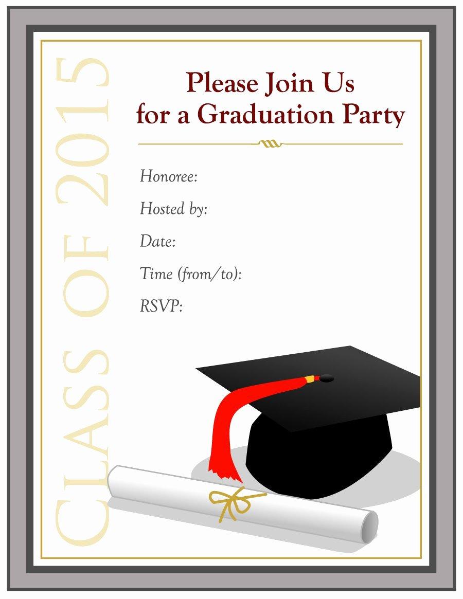 College Graduation Invitation Template Awesome 40 Free Graduation Invitation Templates Template Lab