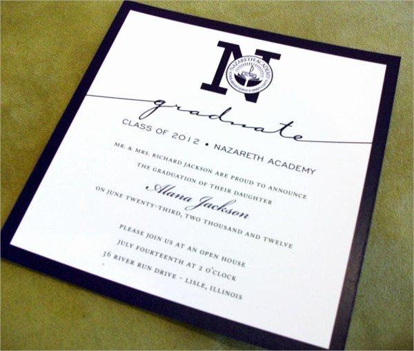 College Graduation Invitation Template Awesome 50 Graduation Invitation Templates Psd Ai Word