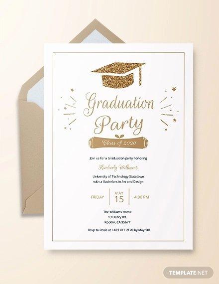 College Graduation Invitation Template Beautiful 24 Graduation Party Invitation Designs Psd Ai Word