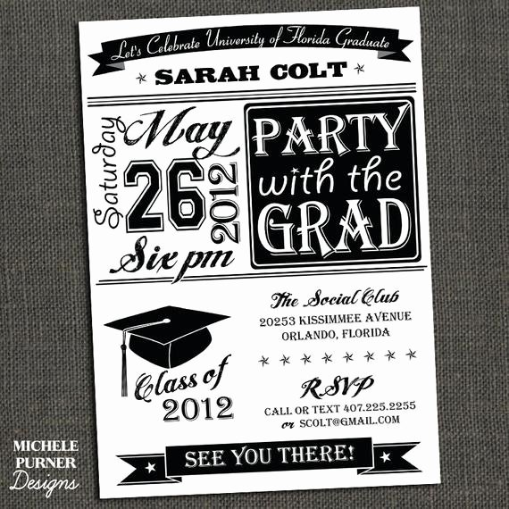 College Graduation Invitation Template Beautiful Items Similar to High School or College Graduation Party
