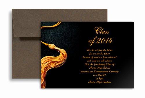 College Graduation Invitation Template Elegant 2019 Black Golden Color Personalized Graduation Invitation