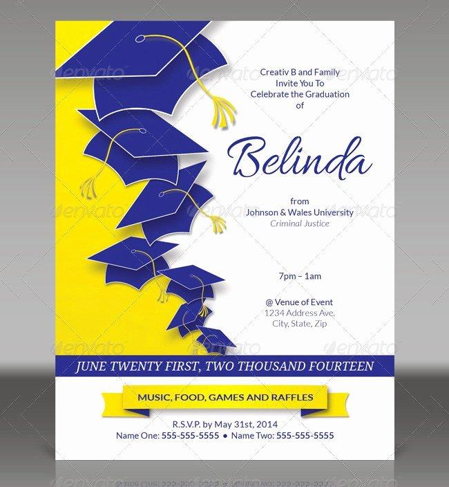 College Graduation Invitation Template Elegant Graduation Bbq Invitations