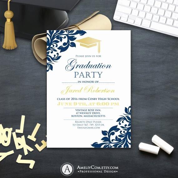 College Graduation Invitation Template Elegant Graduation Party Invitation Сollege Printable Template Boy