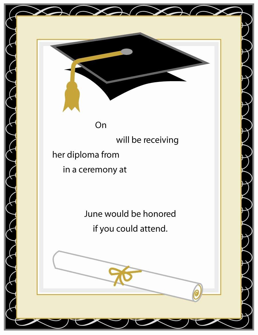 College Graduation Invitation Template Fresh 40 Free Graduation Invitation Templates Template Lab
