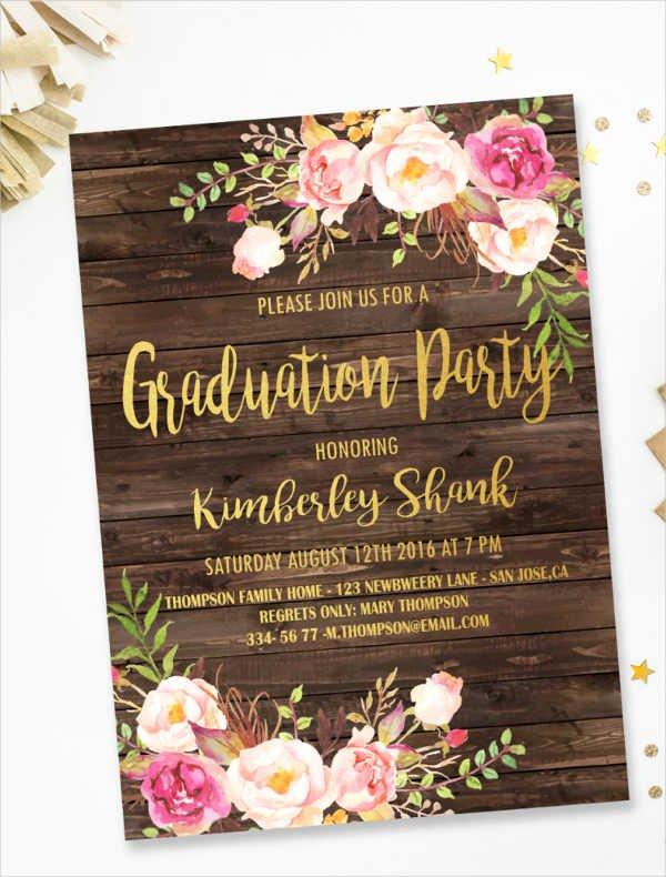 College Graduation Invitation Template Inspirational 44 Invitation Templates Download