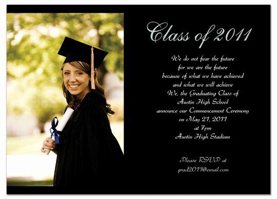 College Graduation Invitation Template Inspirational Graduation Invitations Easyday
