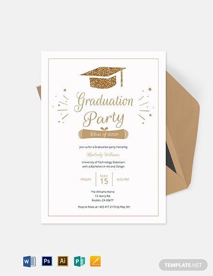 College Graduation Invitation Template Luxury Graduation Invitation Template Word Psd