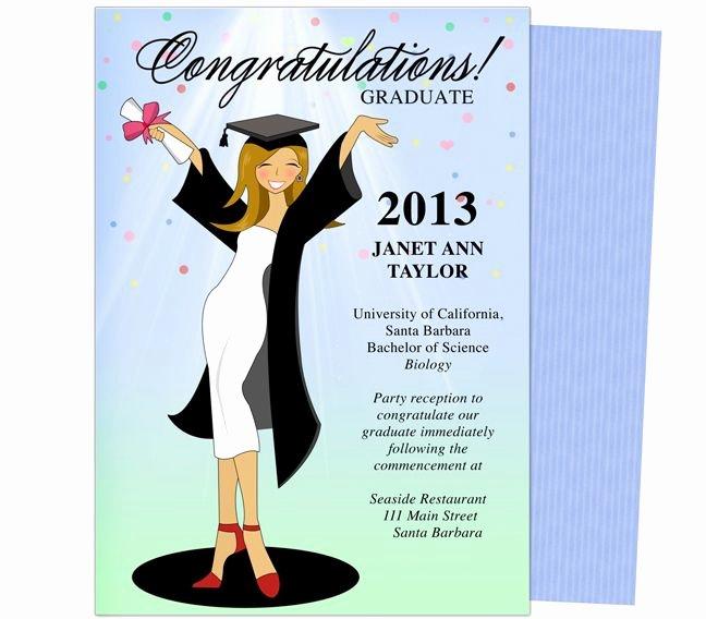 College Graduation Invitation Template New Cheer for the Graduate Graduation Party Announcement