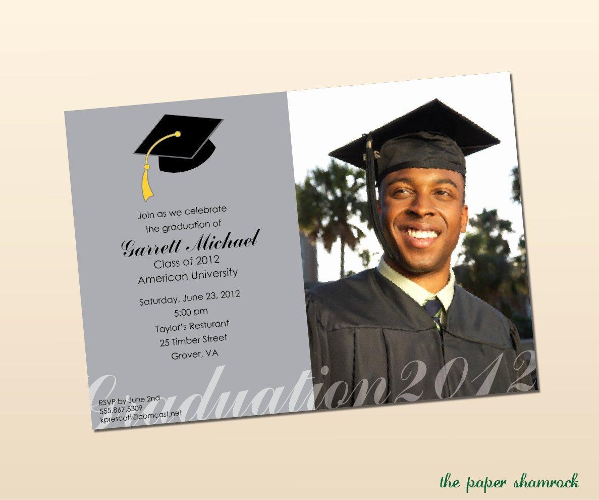 College Graduation Invitation Template Unique College Graduation Invitations Wording