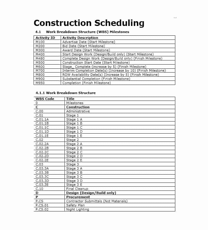 Commercial Construction Schedule Template Luxury 21 Construction Schedule Templates In Word & Excel
