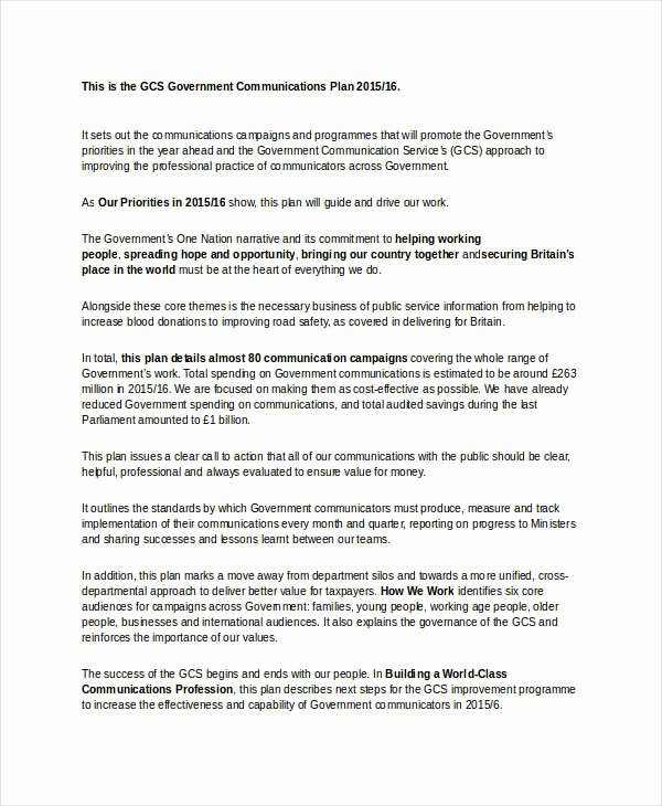 Communication Action Plan Template Lovely Free Munication Plan Template 40 Free Word Pdf
