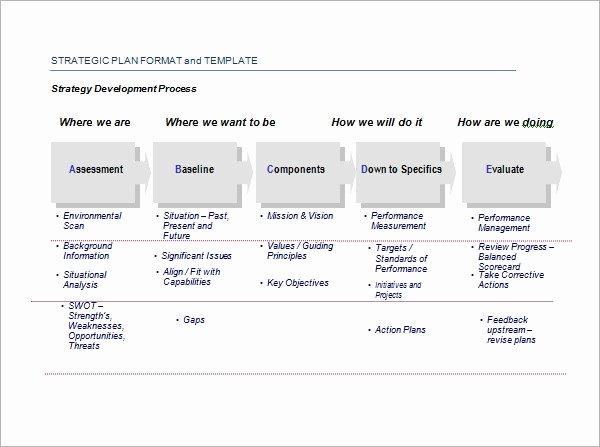 Communication Action Plan Template Luxury Free 30 Strategic Plan Templates In Pdf