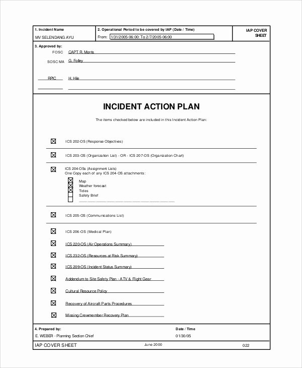 Communication Action Plan Template Luxury Sample Incident Action Plan 10 Examples In Word Pdf