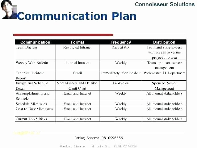 Communication Plan Template Excel Beautiful Stakeholder Strategy Template – Barrestfo