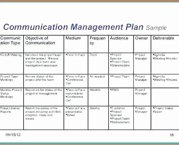 Communication Plan Template Excel Inspirational Munication Matrix Template Project Management Erieairfair