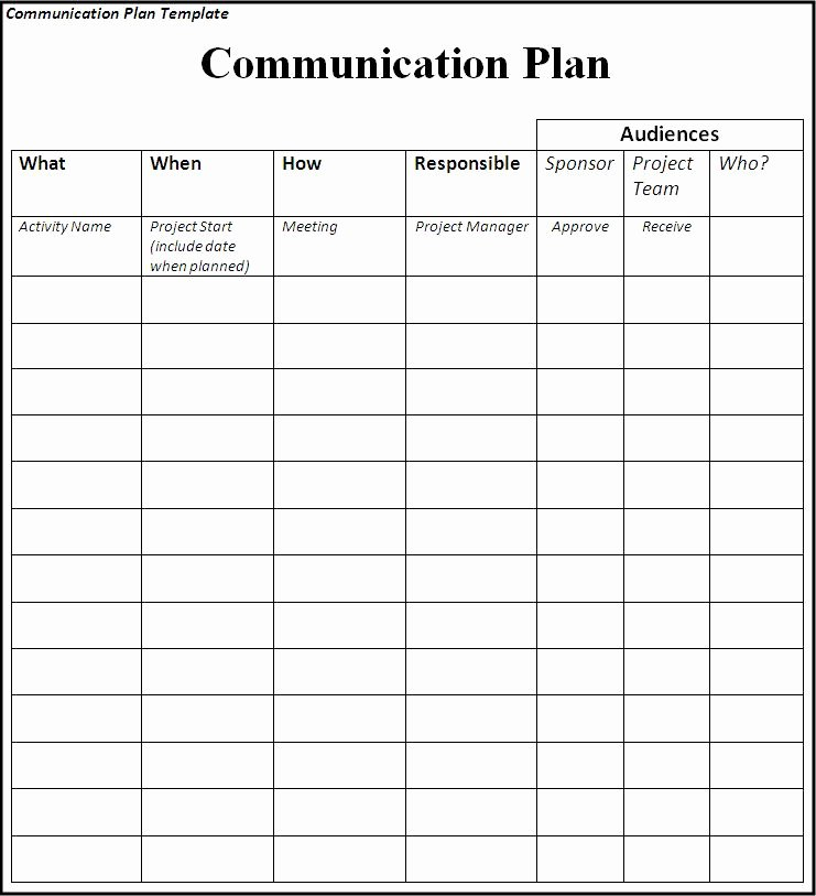Communication Plan Template Excel Inspirational Munication Plan Template