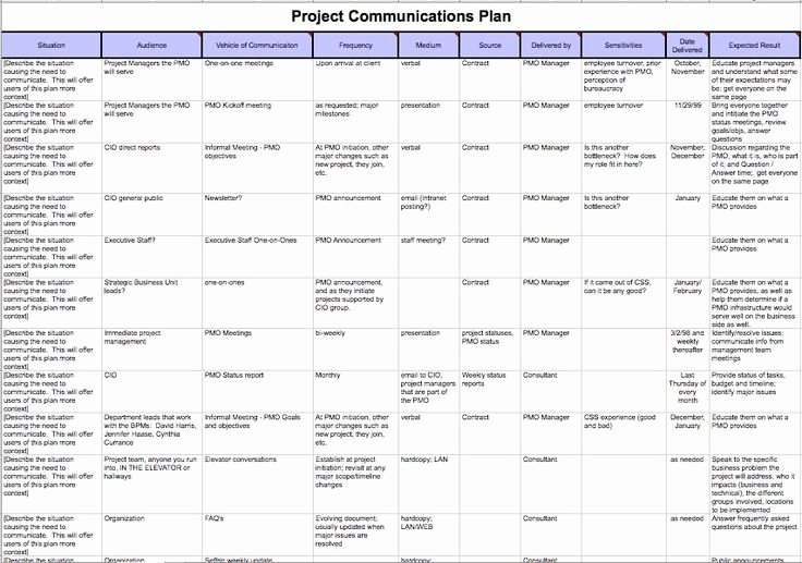 pmbok project management plan template