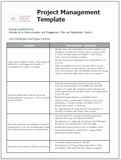 Communication Plan Template Free Awesome Project Management Templates