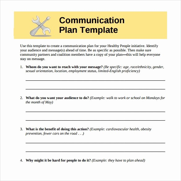 Communication Plan Template Free Best Of Free 14 Sample Munication Plans In Google Docs