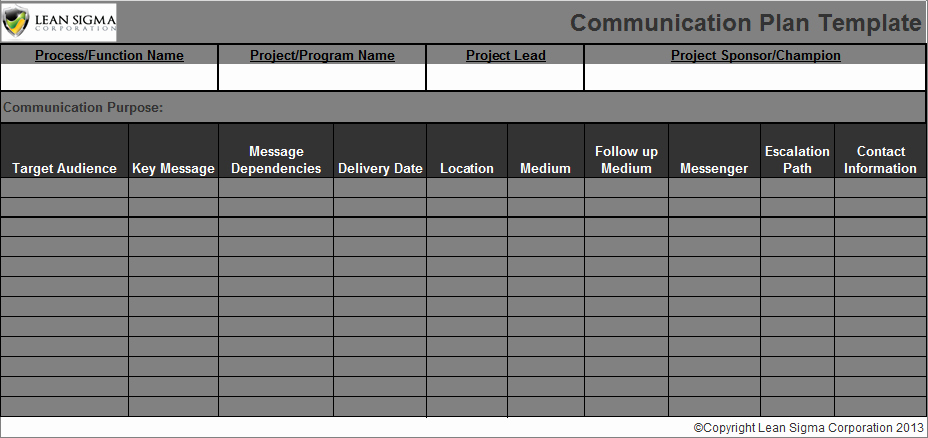 Communication Plan Template Free Fresh 301 Moved Permanently