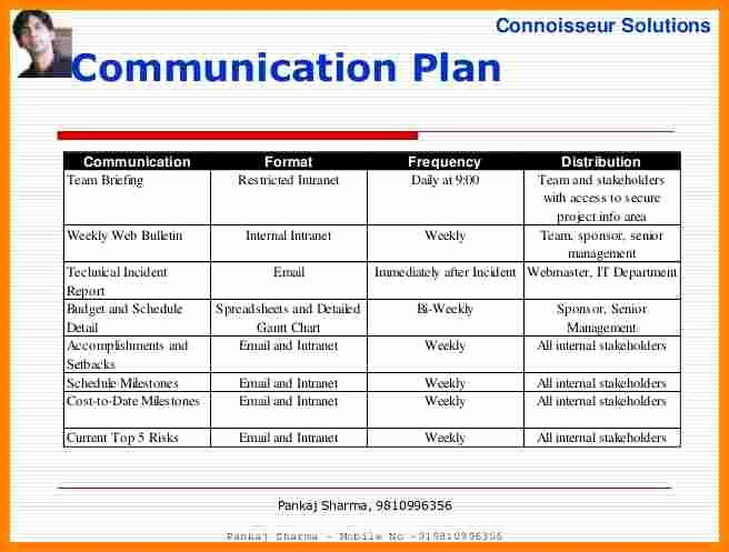 Communication Plan Template Free New 11 Munication Plan Project Management