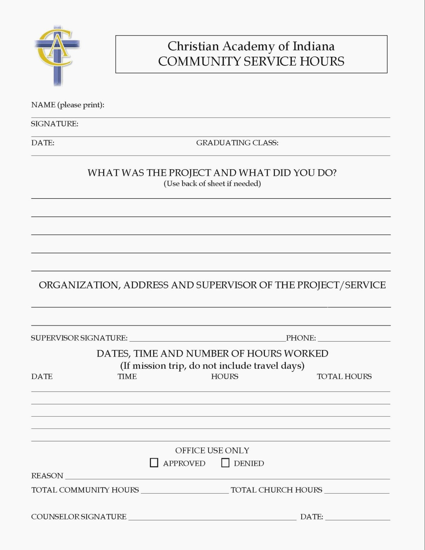 Community Service Hours form Template Elegant What S so Trendy About Tn