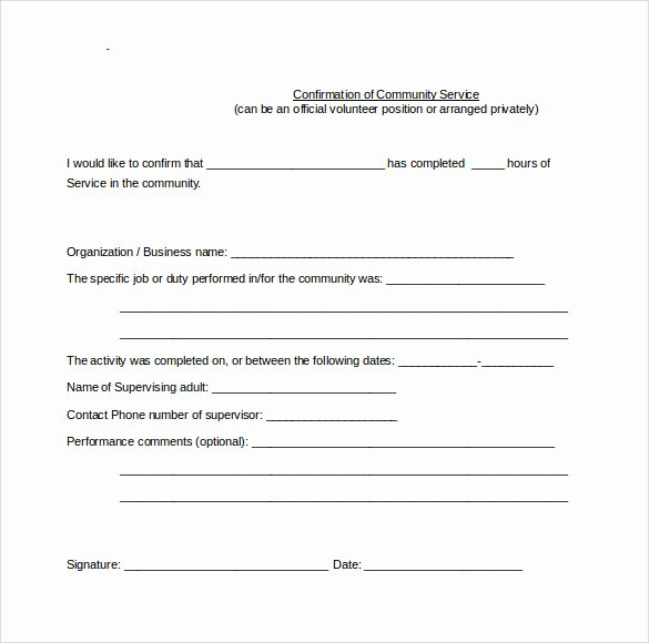 Community Service Hours form Template Lovely Sample Service Hour form 13 Download Free Documents In
