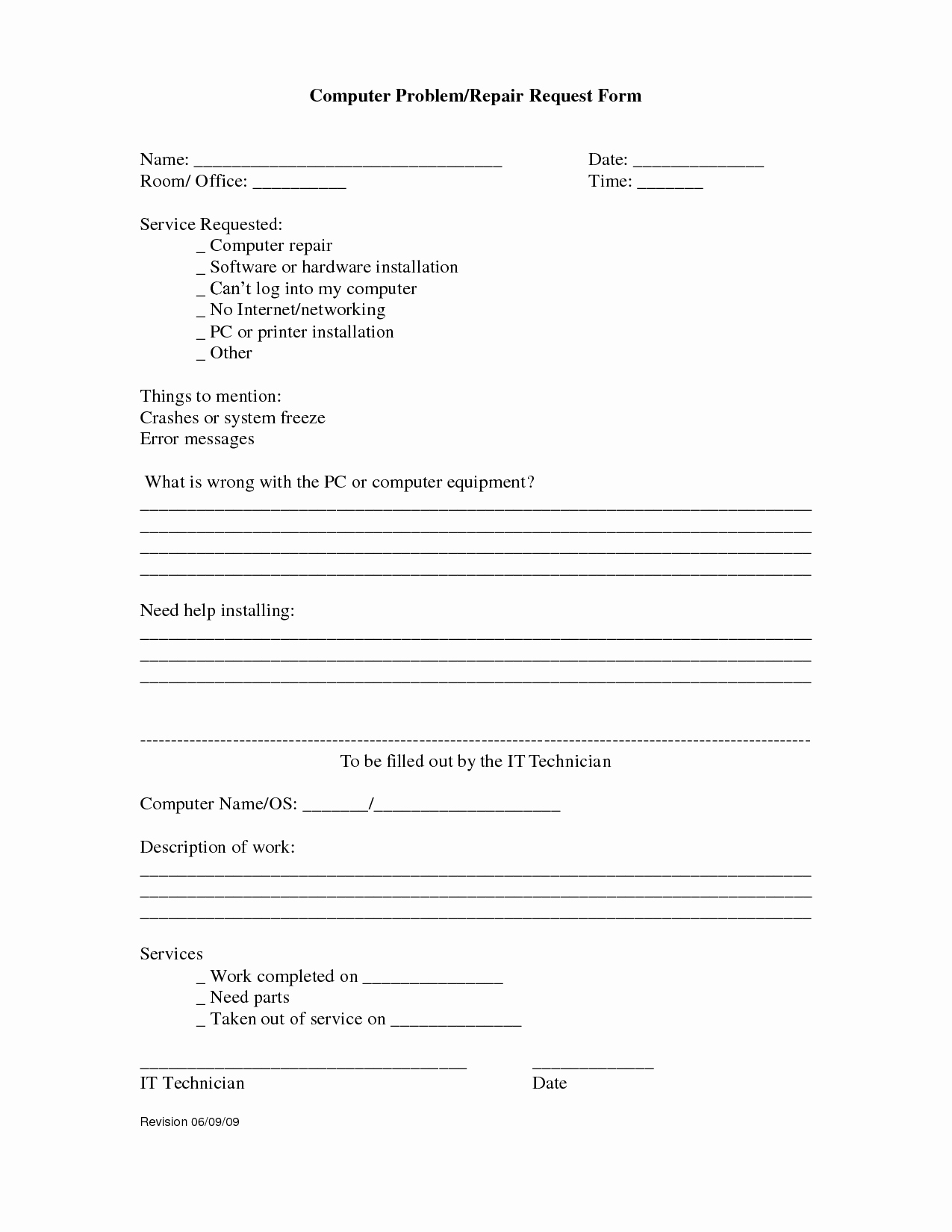 Computer Repair forms Template Inspirational Index Of Cdn 3 2008 574