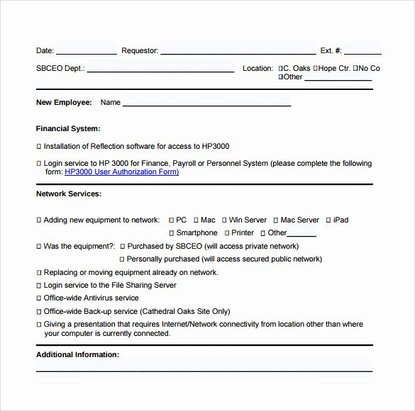 Computer Repair forms Template New Sample Puter Service Request form 12 Download Free