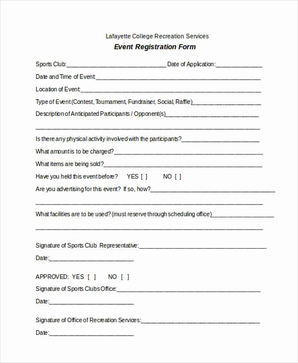 Conference Registration form Template Word Beautiful Free 38 Registration form Templates