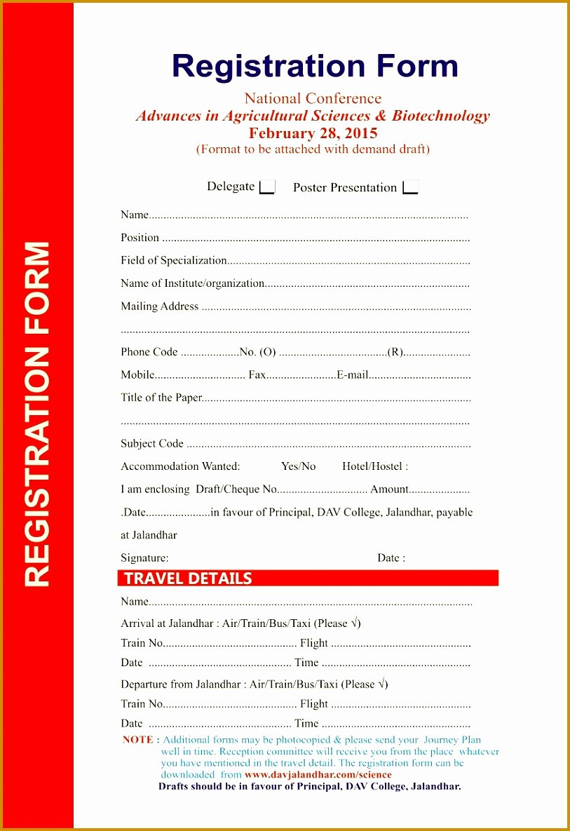 Conference Registration form Template Word Best Of 7 Seminar Registration form Template Word