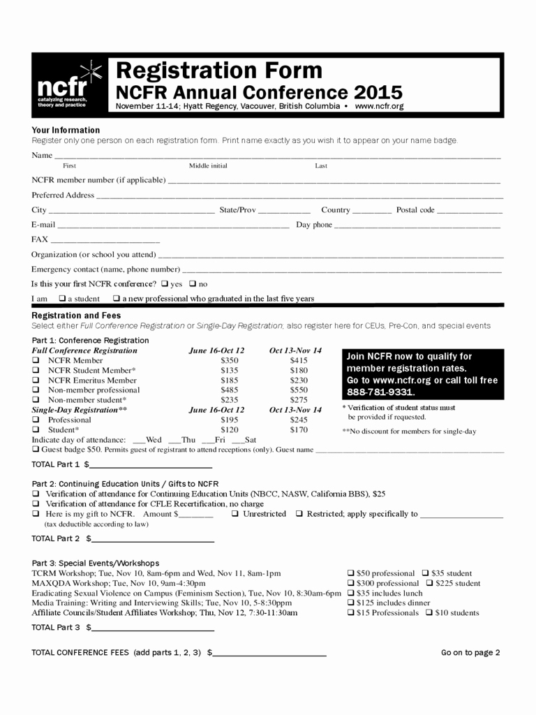Conference Registration form Template Word Best Of Conference Registration form 1 Free Templates In Pdf