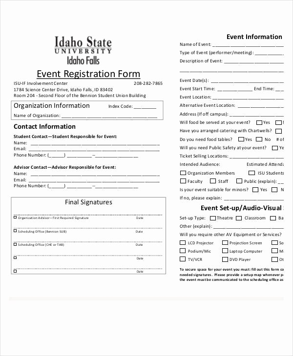 Conference Registration form Template Word Inspirational Registration form Template 11 Free Pdf Word Documents