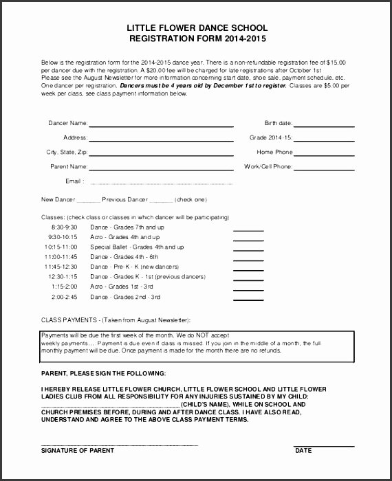 event registration form template excel