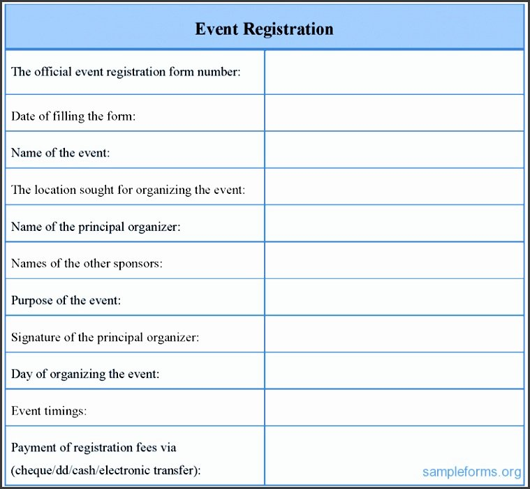 Conference Registration form Template Word Unique 7 event Registration form Template Sampletemplatess