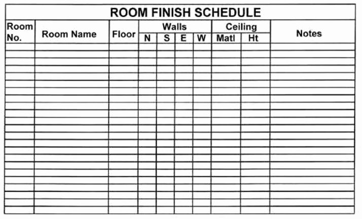 Construction Finish Schedule Template Elegant Blueprint Understanding Schedules