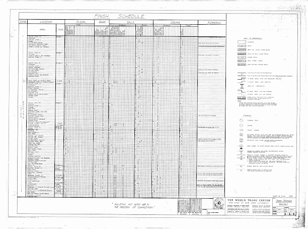 Construction Finish Schedule Template Lovely Schedule Of Drawings Mechanical Trades Finish Schedule