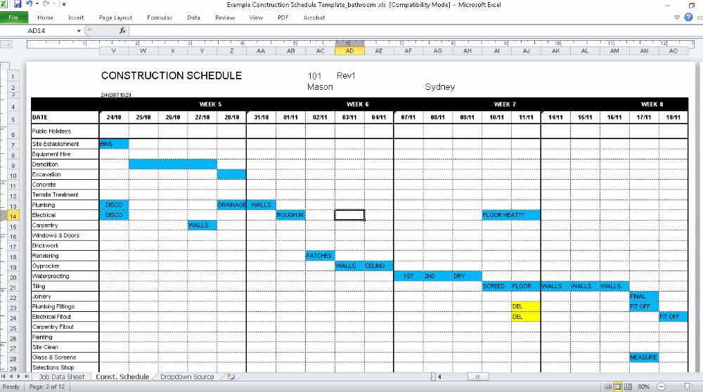 Construction Finish Schedule Template Luxury Renovation Junkies Renovation Junkies