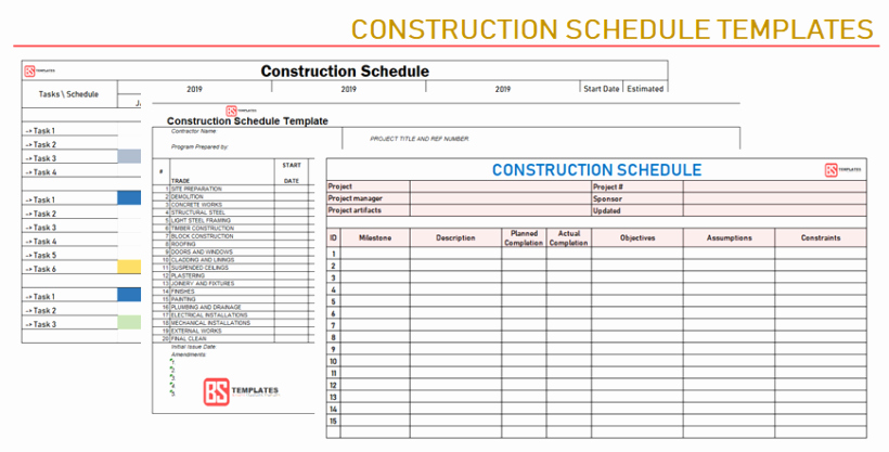 Construction Project Schedule Template Excel Best Of Construction Schedule Template [excel Project